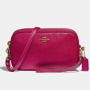 Coach Bags - COACH small pink crossbody
